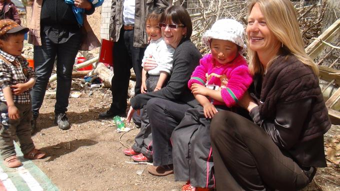 Save the Children International CEO joins China Country Director Pia MacRae at an education project in the Tibetan Autonomous Region.