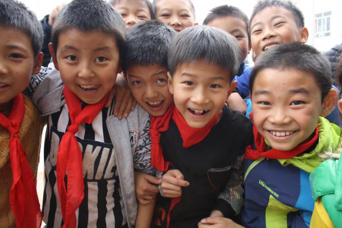 Students from Dacang primary school in Yunnan province, which has carried out Save the Children's inclusive education project thanks to the funding of IKEA.