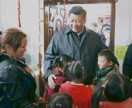 Chinese President Xi Jinping visits Save the Children child-friendly space